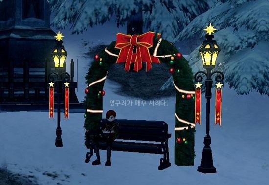 크리스마스 의자 이미지