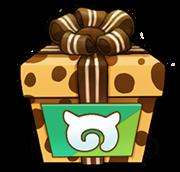 케모노 인형 가방의 선물 상자