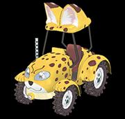 자파리 트랙터 동물 캐릭터 카드